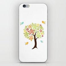 Tree and birds iPhone & iPod Skin