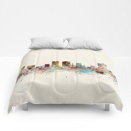 fort worth skyline Comforters