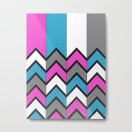 Broken Chevron (Multi) Metal Print