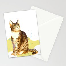 Cute Tabby Cat Stationery Cards