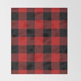 Western Country Woodland Christmas Cottage Primitive lumberjack Buffalo Plaid Throw Blanket