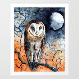 Gibbous in Thorns Art Print