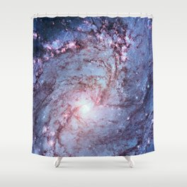 Messier 83, Southern Pinwheel Galaxy, M83 in the constellation Hydra. Shower Curtain
