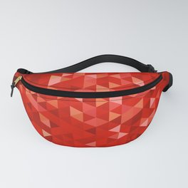 Red polygons Fanny Pack