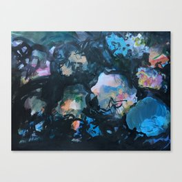 Dark Florals Canvas Print