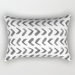 Arrows - Black + White Rectangular Pillow