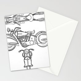 Henderson Motorcycle Prototype Streamliner Main Spec Pre-Patent Drawing Stationery Cards