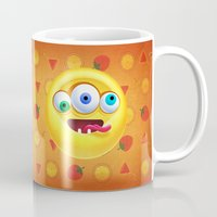 positive Mugs featuring Positive by Keyspice