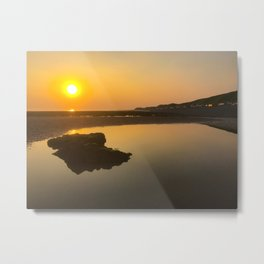 beautiful braystone beach sunset Metal Print