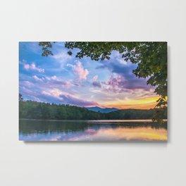 Price Lake Sunset Metal Print