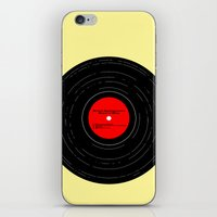 bruce springsteen iPhone & iPod Skins featuring Born to Run- Bruce Springsteen Vinyl by MisfitIsle