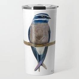 Whiskered Treeswift Watercolor Travel Mug