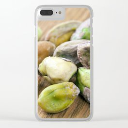 Salted roasted pistachios Clear iPhone Case