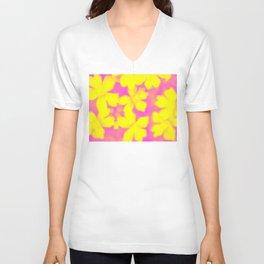Flower | Flowers | Yellow & Pink Flowers | Nadia Bonello Unisex V-Neck