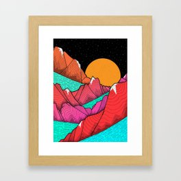 The islands and the sea Framed Art Print