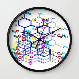 """THC: ENHANCE & TRANSMIT"" Wall Clock"
