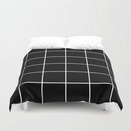 BLACK AND WHITE GRID Duvet Cover
