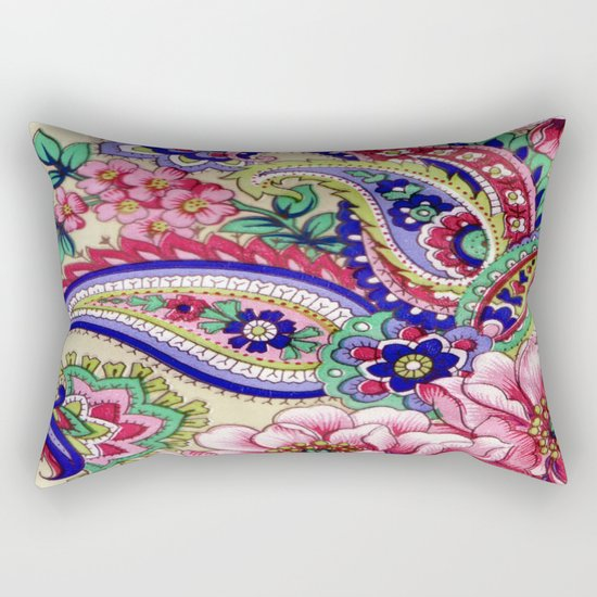 Floral Deco Rectangular Pillow