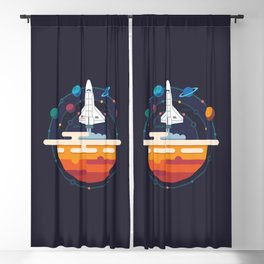 Space Shuttle & Solar System Blackout Curtain