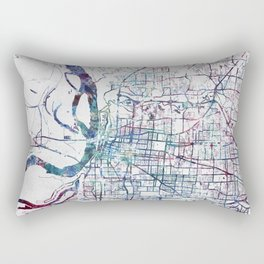 Memphis map Rectangular Pillow