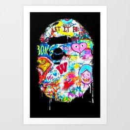 Graffiti Hypebeast Bape Illustration Art Print