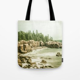 Acadia National Park Maine Rocky Beach Tote Bag