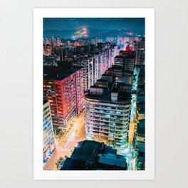 YongHe Cyberpunk Art Print