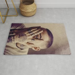 Mac Miller Art Canvas - Mac Miller Cover Face Art Poster Printed Picture Wall Art Decoration POSTER Rug
