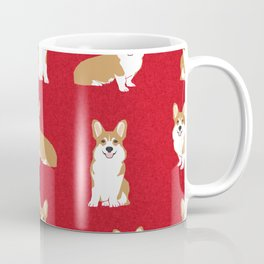 Corgis - Cute corgi, dog pet, corgi decor, corgi pillow, corgi bedding, corgi pattern, cute corgi de Coffee Mug