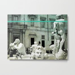 Neptune Fountain Rome Italy Metal Print