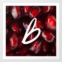 Recettes du Bonheur - pomegranate Art Print