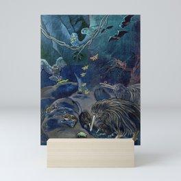Kiwi, Bats, Morepork and More Mini Art Print
