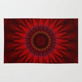 Mandala red power Rug