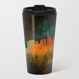 Frankfurt am Main, City Cityscape Skyline watercolor art v4 Travel Mug