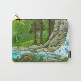 Waterfall and Nature Carry-All Pouch