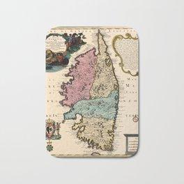 Map Of Corsica 1720 Bath Mat