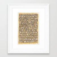 teeth Framed Art Prints featuring Teeth by Jason Covert