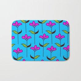Genevieve - Blue and Pink Bath Mat