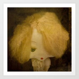 Vintage Doll Art Print
