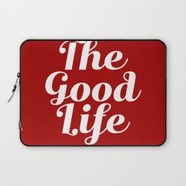 The Good Life - Red and White Laptop Sleeve