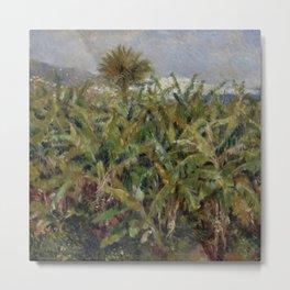 """Auguste Renoir """"Field of Banana Trees"""" Metal Print"""