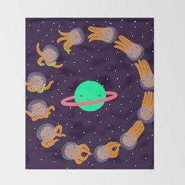 Space Octopuses! Throw Blanket