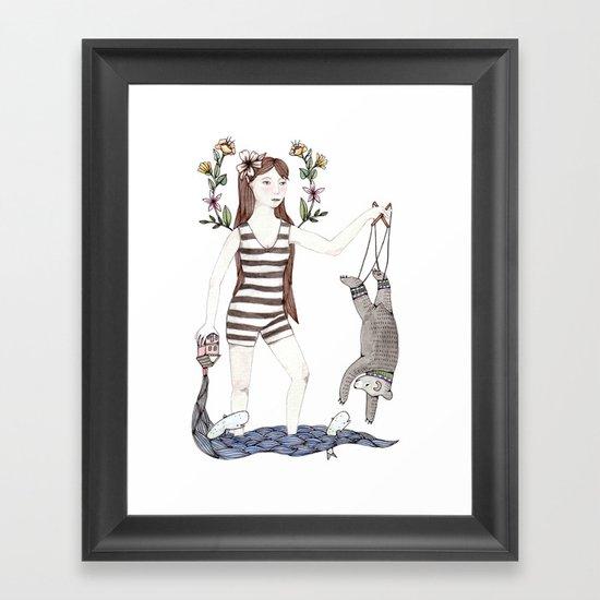 Dangle Bear Framed Art Print