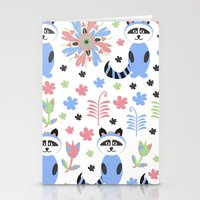 racoon Stationery Cards featuring Racoon pattern  by luizavictoryaPatterns