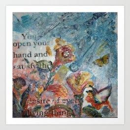 Psalm 145:16 Art Print
