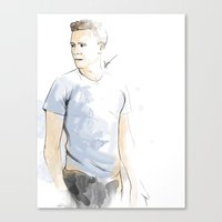 tom hiddleston Canvas Prints featuring Tom hiddleston by Theridingcrop