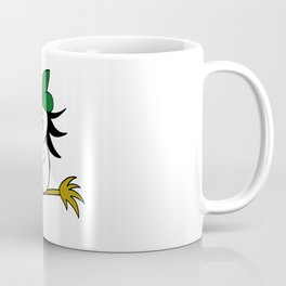 Drawn by hand a lovely witch flying on a broom Coffee Mug