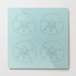 Sand Dollar Blessings Large Pattern - Pointilist Art Metal Print