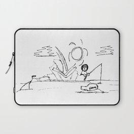 Man at Lost Island ArtLine Style Laptop Sleeve