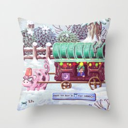 Stardew Valley - Travelling Cart Throw Pillow